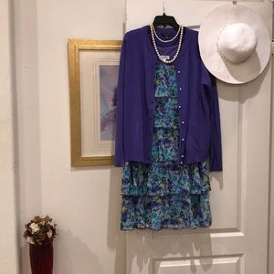 Lovely Floral Layered Dress Barn Dress